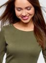 Платье облегающего силуэта на молнии oodji #SECTION_NAME# (зеленый), 14001105-6B/46944/6800N - вид 4