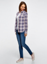 Рубашка принтованная хлопковая oodji #SECTION_NAME# (синий), 11406019/43593/7540C - вид 6