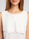 Топ из легкой струящейся ткани oodji для женщины (белый), 11400425/32823/1200N