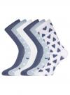 Комплект высоких носков (6 пар) oodji для женщины (разноцветный), 57102902T6/47469/38 - вид 2