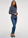 Рубашка базовая из хлопка oodji для женщины (синий), 13K03007B/26357/7910U
