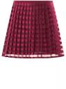 Юбка легкая полупрозрачная oodji для женщины (красный), 11606044/42812/4900N