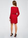 Платье из шифона с ремнем oodji для женщины (красный), 11900150-5B/32823/4500N - вид 3
