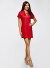 Платье из искусственной замши с завязками oodji #SECTION_NAME# (красный), 18L00001/45778/4500N - вид 6