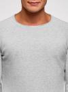 Джемпер базовый с круглым воротом oodji #SECTION_NAME# (серый), 4B112006M/25990N/2000M - вид 4