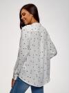 Блузка вискозная А-образного силуэта oodji #SECTION_NAME# (белый), 21411113-1B/48458/1229O - вид 3