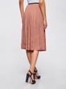 Юбка миди из струящейся ткани oodji для женщины (бежевый), 13G00003/42662/3300N