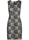 Платье трикотажное облегающего силуэта oodji #SECTION_NAME# (черный), 24005126-2/18610/2952F