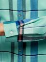 Блузка принтованная из вискозы oodji #SECTION_NAME# (зеленый), 11411098-4/45208/6575C - вид 5