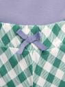 Пижама хлопковая с принтом oodji для женщины (синий), 56002217-7/46154/1262P