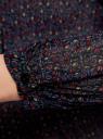Блузка гофрированная с завязками oodji #SECTION_NAME# (черный), 11414005/46166/2973F - вид 5
