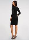 Платье с декоративными молниями принтованное oodji для женщины (черный), 24007024/43121/2900N - вид 3