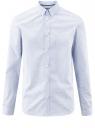 Рубашка принтованная из хлопка oodji #SECTION_NAME# (синий), 3B110027M/19370N/1078G
