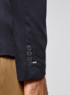 Пиджак из фактурной ткани с накладными карманами oodji #SECTION_NAME# (синий), 2L400164M/46265N/7900J - вид 5