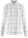 Блузка вискозная прямого силуэта oodji #SECTION_NAME# (белый), 11411098-3/24681/1229C