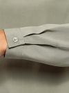 Блузка вискозная свободного силуэта oodji #SECTION_NAME# (зеленый), 11411135-4B/42807/6000N - вид 5