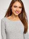 Платье трикотажное базовое oodji #SECTION_NAME# (серый), 14001071-2B/46148/2501M - вид 4