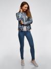 Куртка стеганая с круглым вырезом oodji для женщины (синий), 10204040-1B/42257/7973E - вид 6