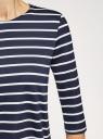 Платье трикотажное в полоску oodji для женщины (синий), 14001162-1/43603/7910S