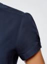 Рубашка хлопковая с коротким рукавом oodji #SECTION_NAME# (синий), 13K01004-1B/14885/7900N - вид 5
