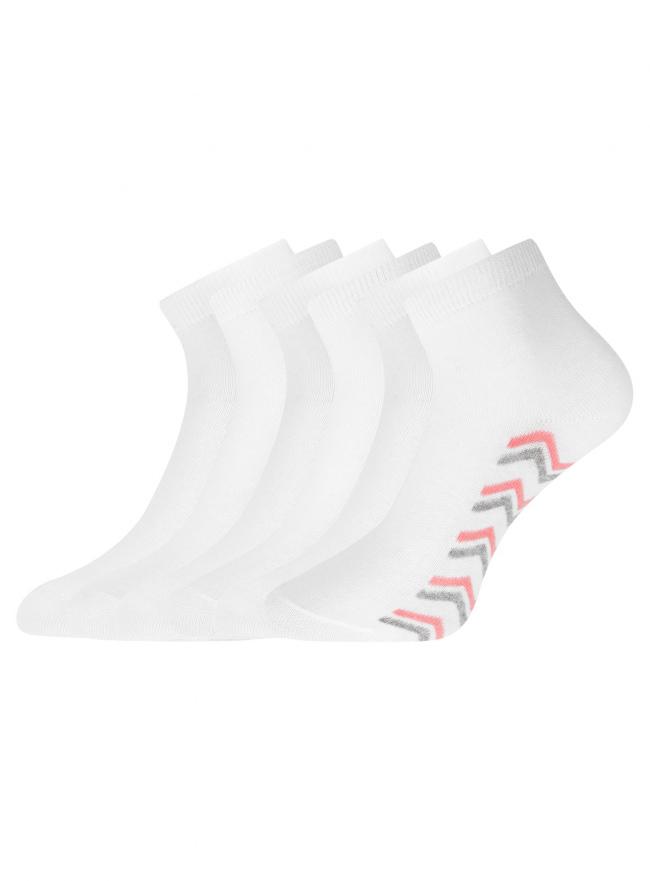 Комплект укороченных носков (6 пар) oodji для женщины (разноцветный), 57102418T6/47469/39
