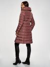 Пальто стеганое с объемным воротником oodji для женщины (красный), 10204049-1B/24771/3102N - вид 3