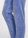 Брюки спортивные на завязках oodji для женщины (синий), 16701051B/47883/7501N
