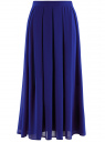 Юбка со складками из струящейся ткани oodji #SECTION_NAME# (синий), 21600285-2B/17358/7500N