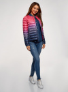 Куртка стеганая с круглым вырезом oodji для женщины (розовый), 10204040-1B/42257/4D79T - вид 6