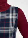 Платье клетчатое без рукавов oodji #SECTION_NAME# (синий), 11910072-2/32831/7930C - вид 5