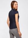 Рубашка с коротким рукавом из хлопка oodji #SECTION_NAME# (синий), 11403196-3/26357/7900N - вид 3