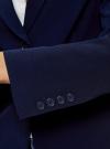 Жакет базовый приталенного силуэта oodji #SECTION_NAME# (синий), 21202077-3B/18600/7900N - вид 5
