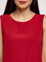 Топ прямого силуэта с круглым вырезом oodji #SECTION_NAME# (красный), 14911014/48728/4502N - вид 4