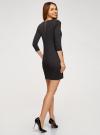 Платье с металлическим декором на плечах oodji для женщины (черный), 14001105-2/18610/2900N - вид 3