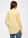 Блузка базовая из вискозы oodji #SECTION_NAME# (желтый), 21412129-1/24681/5000N - вид 3