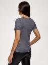 Футболка прямого силуэта с люрексом oodji для женщины (фиолетовый), 14701073/47571/8891X