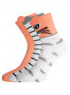 Комплект из трех пар хлопковых носков oodji #SECTION_NAME# (разноцветный), 57102802T3/47469/19 - вид 2
