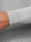 Пуловер базовый с V-образным вырезом oodji #SECTION_NAME# (серый), 4B212007M-1/34390N/2302M - вид 5