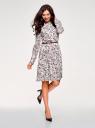 Платье вискозное с ремнем oodji #SECTION_NAME# (розовый), 21912001-2B/26346/4075F - вид 6