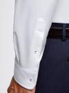 Рубашка хлопковая с контрастной отделкой oodji #SECTION_NAME# (белый), 3L110332M/48645N/1000O - вид 5