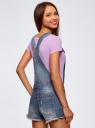 Комбинезон джинсовый с модными потертостями oodji #SECTION_NAME# (синий), 13109056/42559/7900W - вид 3