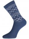 Комплект из шести пар хлопковых носков oodji для женщины (разноцветный), 57102902-5T6/49118/47