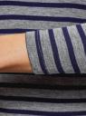 Водолазка базовая с рукавом 3/4 oodji #SECTION_NAME# (серый), 15E01001/42814/2379S - вид 5
