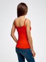 Майка базовая на бретелях oodji для женщины (оранжевый), 14305023-3B/10577/4D00N