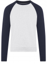 Свитшот хлопковый с контрастными рукавами oodji #SECTION_NAME# (серый), 5B114031M/48820N/2079N