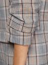 Жакет без застежки с рукавом 3/4 oodji для женщины (серый), 11207010-13B/50161/2557C