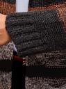 Кардиган полосатый с капюшоном oodji #SECTION_NAME# (коричневый), 63205244/46133/2531S - вид 5