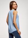 Топ базовый из вискозы oodji для женщины (синий), 14911008-1B/48756/7002N - вид 3