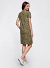 Платье-поло из ткани пике oodji #SECTION_NAME# (зеленый), 24001118-2/47005/6668E - вид 3