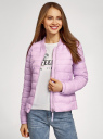 Куртка-бомбер на молнии oodji для женщины (фиолетовый), 10203061-1B/33445/8001N